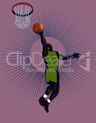 basketball layup retro