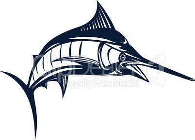 blue marlin jump retro