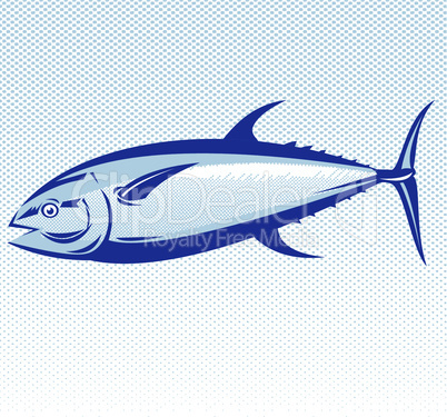 blue fin tuna retro