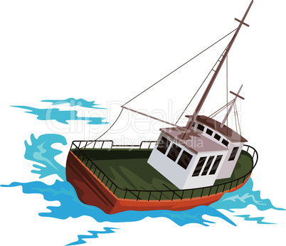 fishing boat retro