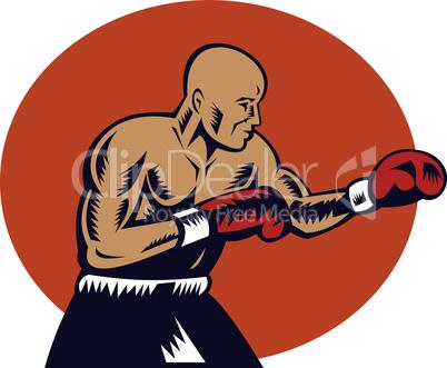boxer pose jabbing