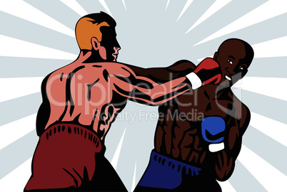 boxer boxing connecting knockout punch