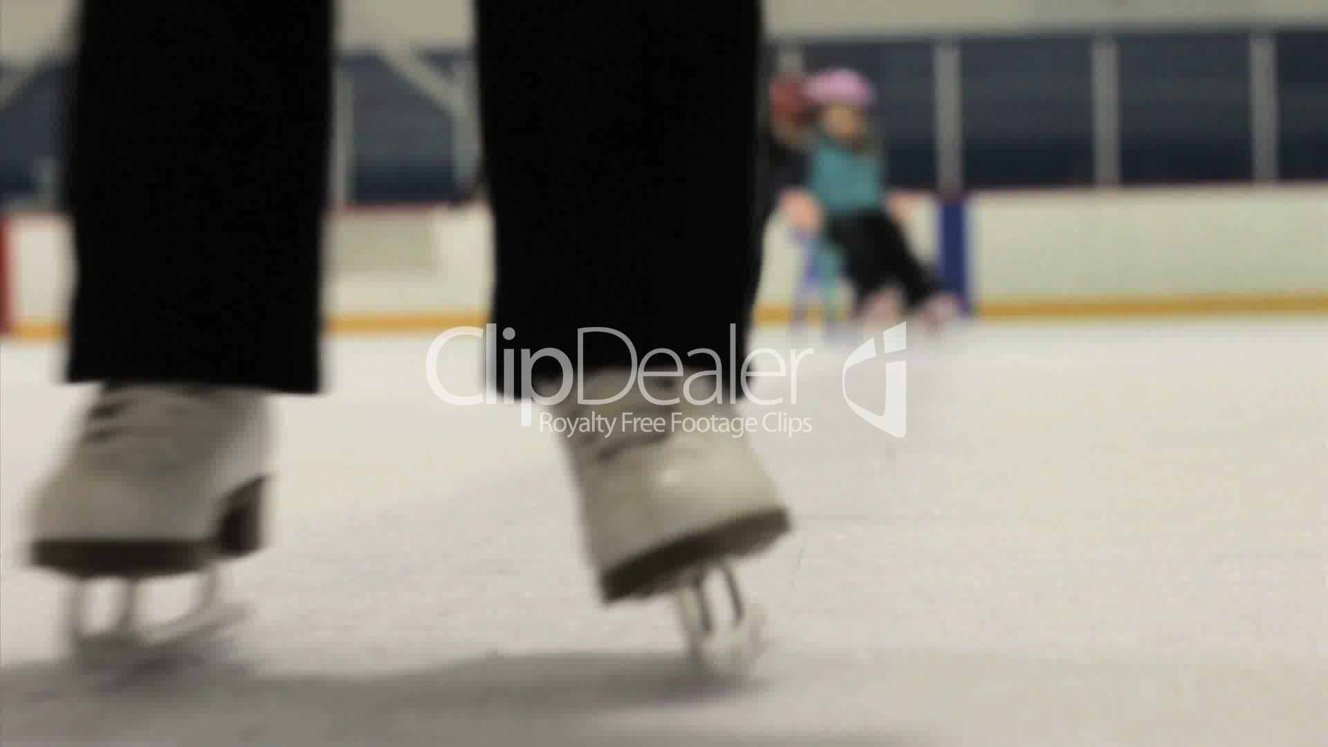 Girl Learning How To Ice Skate: Royaltyfree Video And Stock Footage
