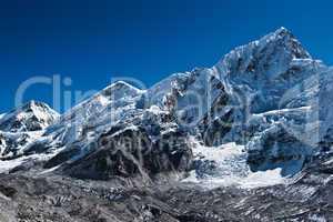 Peaks and glacier near Everest base camp
