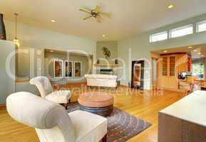 Fantastic modern living room home interior.