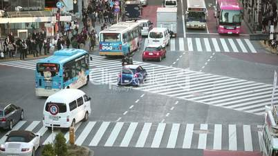 Tokyo Hachiko crossing time lapse