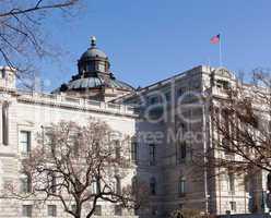 Facade of Library of Congress Washington DC