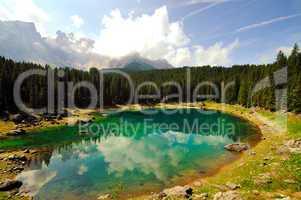 Alpine lake (Italy)