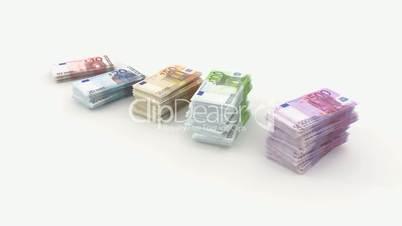 euro bundle banknote