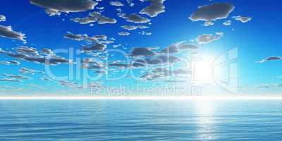 Die Sonne über dem Meer