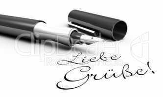 Liebe Grüße! - Stift Konzept