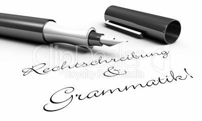 Rechtschreibung & Grammatik! - Stift Konzept