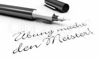 Übung macht den Meister! - Stift Konzept