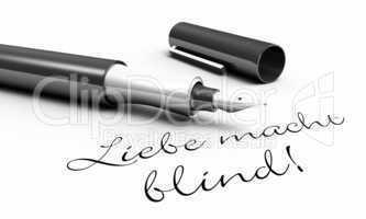 Liebe macht blind! - Stift Konzept