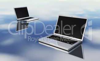 Laptops on silver