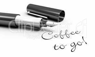Coffee to go! - Stift Konzept