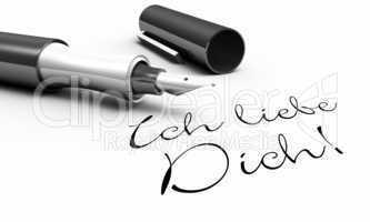 Ich liebe Dich! - Stift Konzept