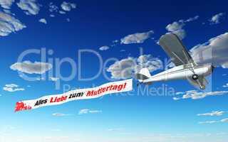Flugzeug Banner - Alles Liebe zum Muttertag!