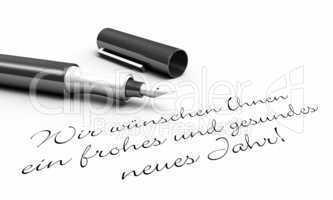 Wir wünschen ein frohes und gesundes... - Stift Konzept