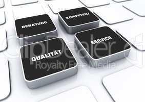 Quader Konzept Schwarz - Beratung Kompetenz Qualität Service 2