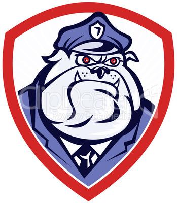 bulldog mongrel dog policeman police