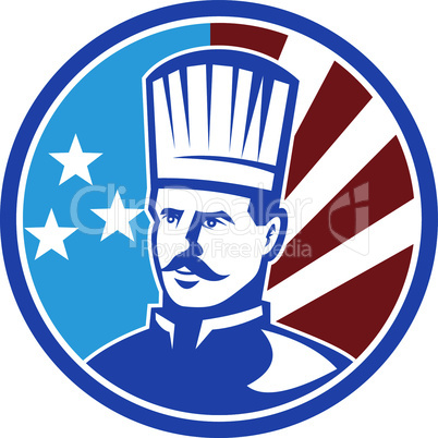 chef american bust retro