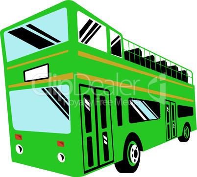 bus double decker open top retro