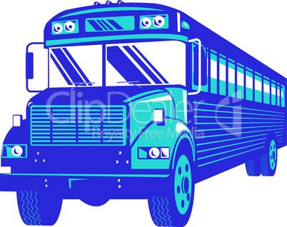 school bus front retro