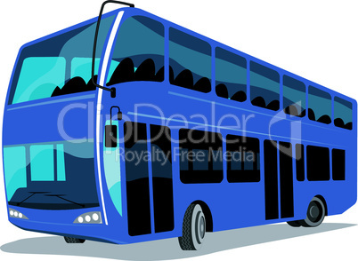 bus double decker retro