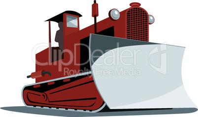 bulldozer retro tractor