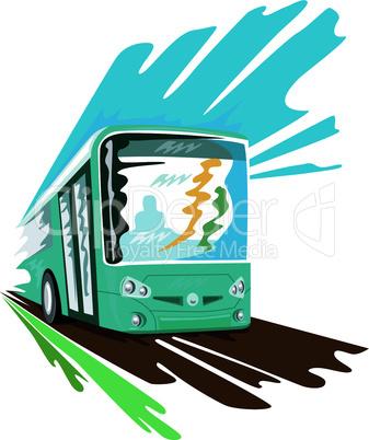 Tourist coach bus retro