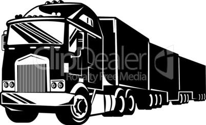 truck 38wheeler retro