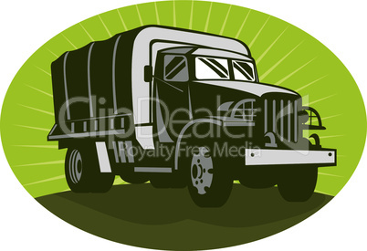 truck army front iso retro