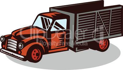 truck delivery vintage retro