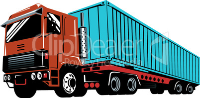 truck container worm view retro