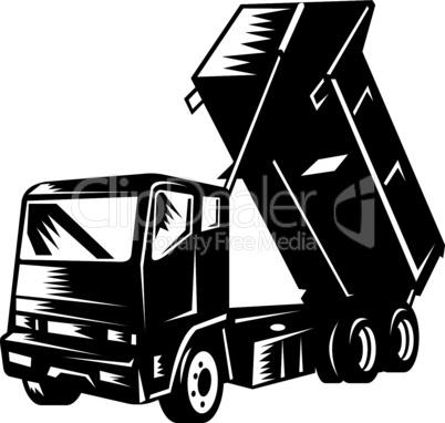 truck dump front iso retro