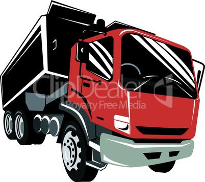 truck dump iso front retro