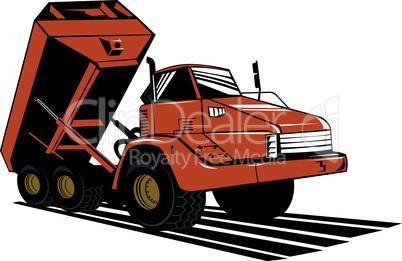 truck dump side retro