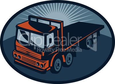 truck flatbed aerial retro