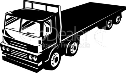 truck flatbed top retro