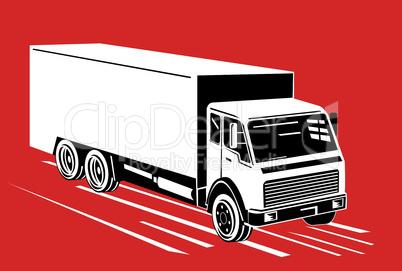 truck iso top retro