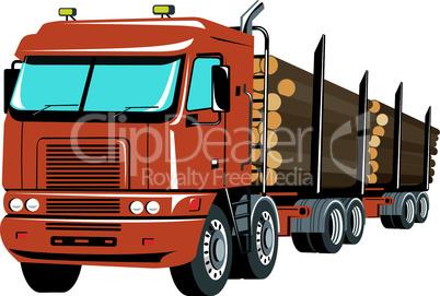 truck logging retro