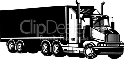 truck trailer left side retro