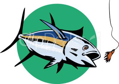 tuna albacore front retro