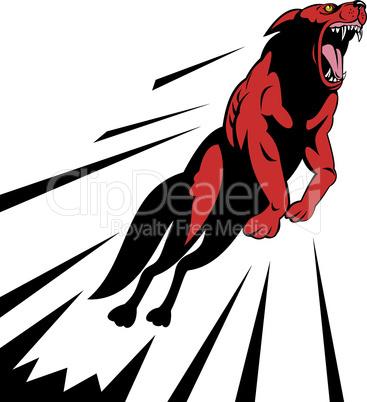 wolf attack jump retro