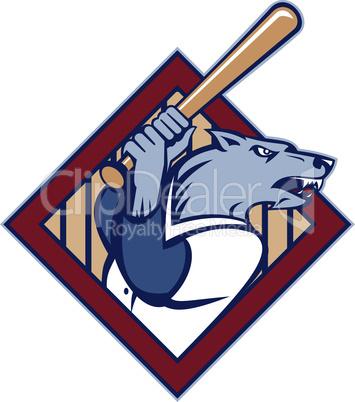wolf baseball bat retro