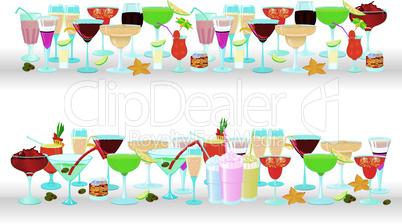Horizontal cocktail borders