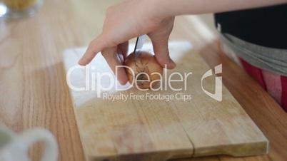 Onion cutting