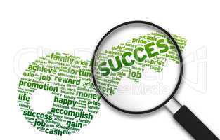 Magnifying Glass -  Key to Success