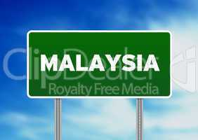 Malaysia Highway Sign
